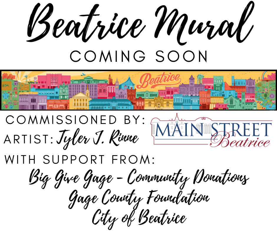 Beatrice Downtown Mural Work Starting